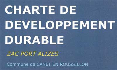 Téléchargez la charte de développement durable Port Alizés
