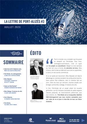 La Newsletter de la résidence Bleu d'Ancre - Port Alizés